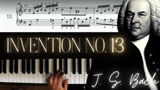 J.S. Bach: Two-Part  Invention No. 13 in A minor │ Classical Piano Lesson #2