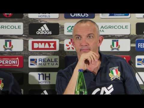 Italia VS All Blacks: conferenza post partita