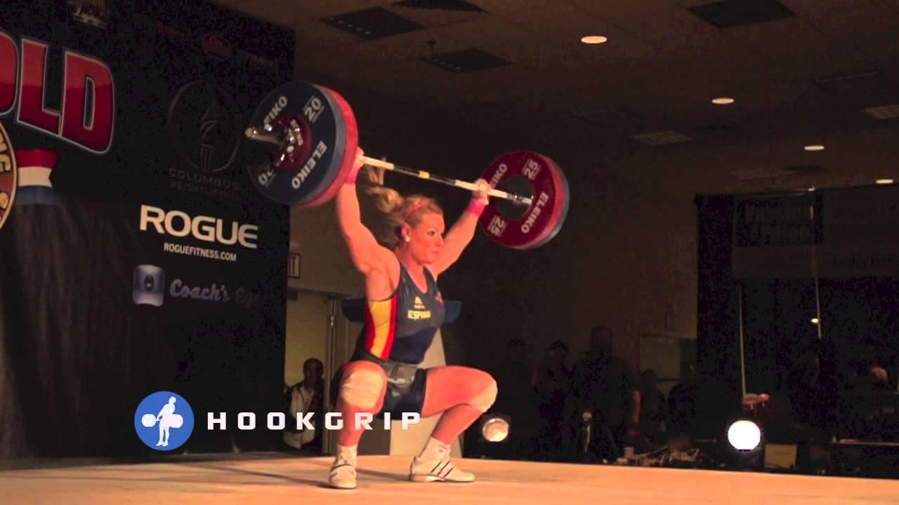 Lydia Valentin 115kg Snatch Slow Motion   YouTube