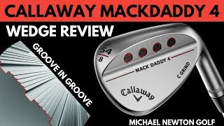 Callaway MackDaddy 4 Wedge Review - Full Shot & Pitch Testing Measuring Backspin