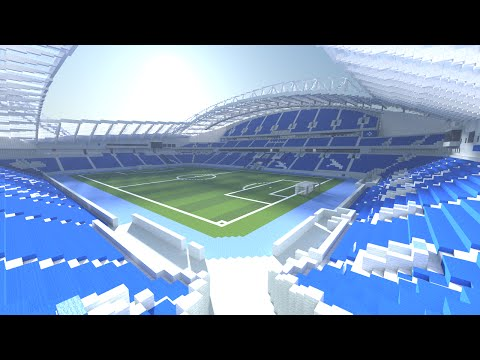 Minecraft - TIMELAPSE - Amex Arena (Brighton and Hove Albion) + DOWNLOAD [Official]