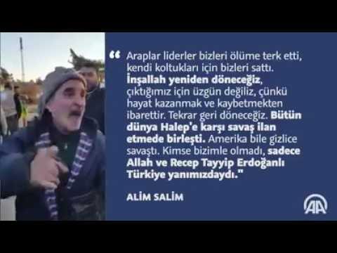Tahliye edilen Halepli kardeşlerimiz konuştu