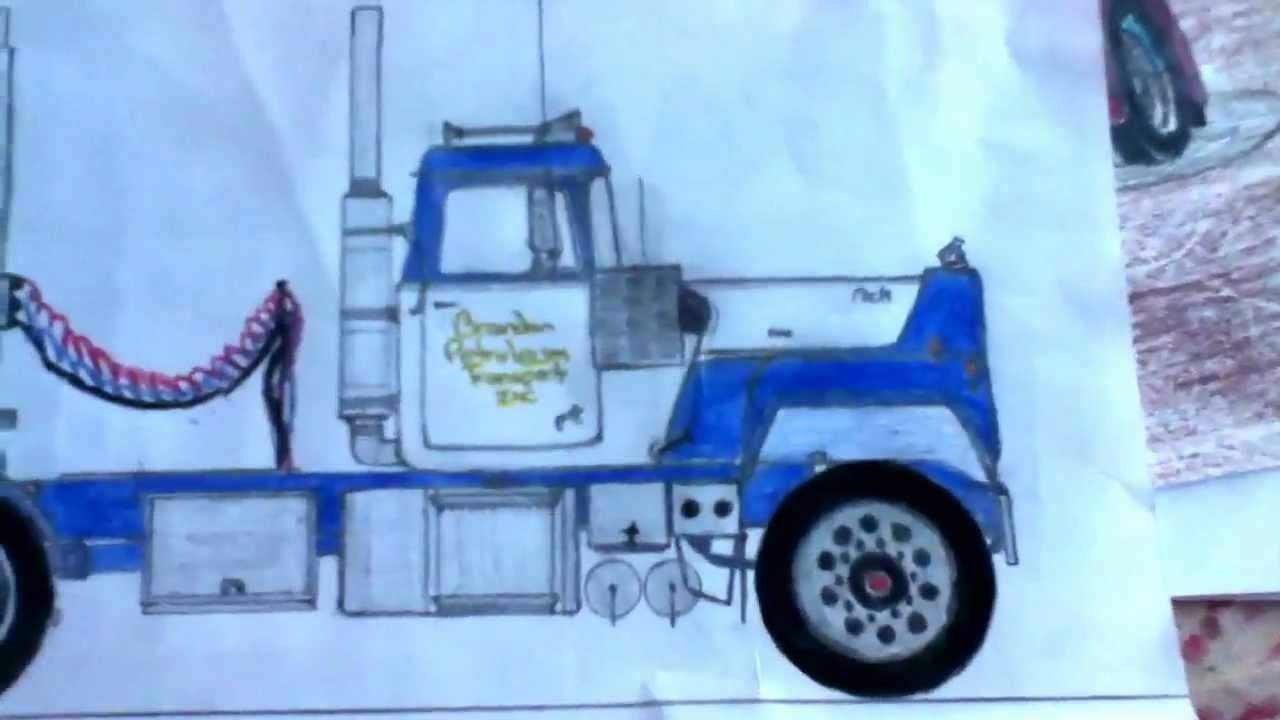 awesome truck drawings youtube