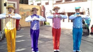 Disneyland Dapper Dans sing boy band songs for Limited Time Magic