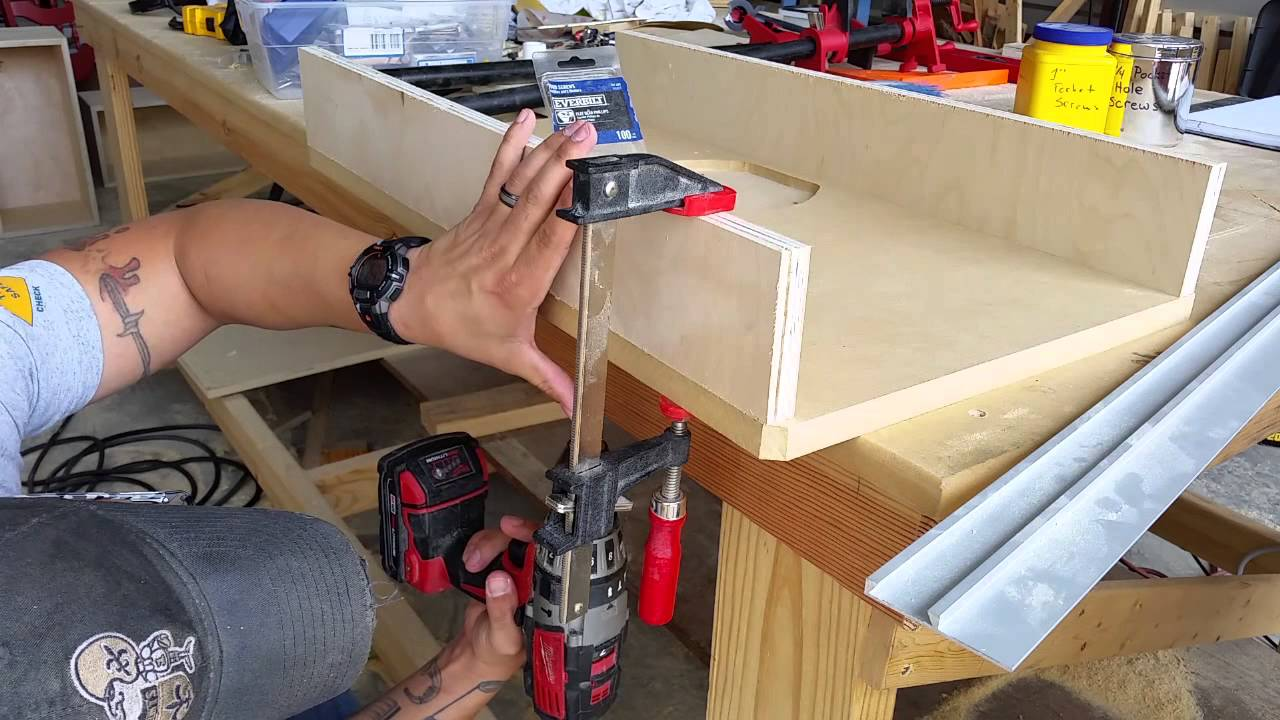 Rockinwoodwerks ridgid r4512 router table extension wing youtube greentooth Images