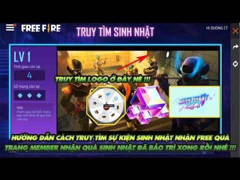 Free Fire| Cách làm sự kiện truy tìm nhận quà và HMT Free -Trang member nhận quà sinh nhật đã mở lại