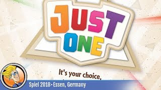 Just One — game overview at SPIEL '18