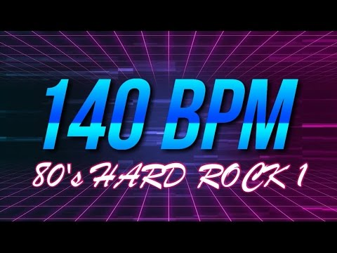 140 BPM - 80's Hard Rock - 4/4 Drum Track - Metronome - Drum Beat