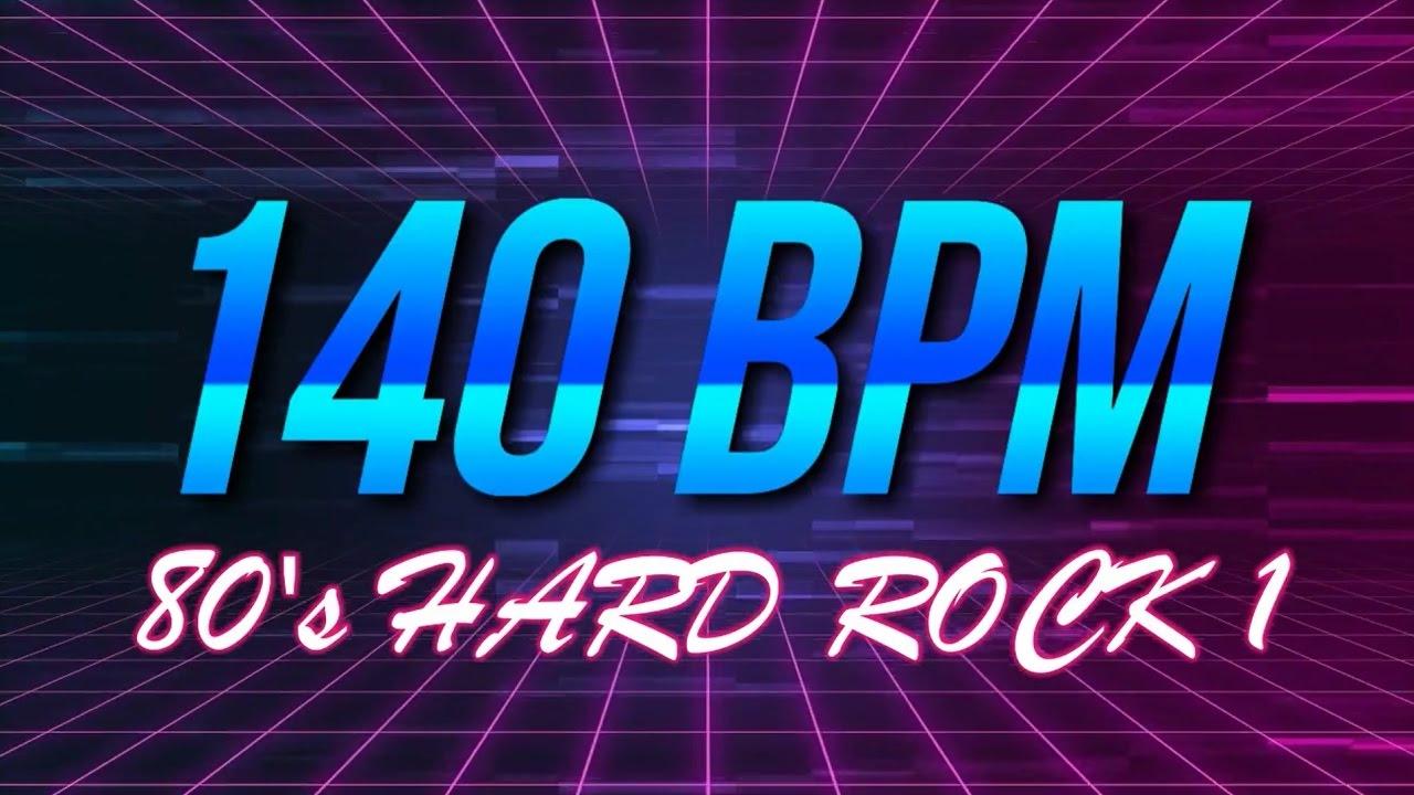 140 BPM - 80's Hard Rock - 4/4 Drum Track - Metronome - Drum Beat