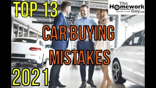 13 Car Buying Mistakes   How Auto Dealerships Rip You Off   Be An Expert Buyer At Vehicle Dealers