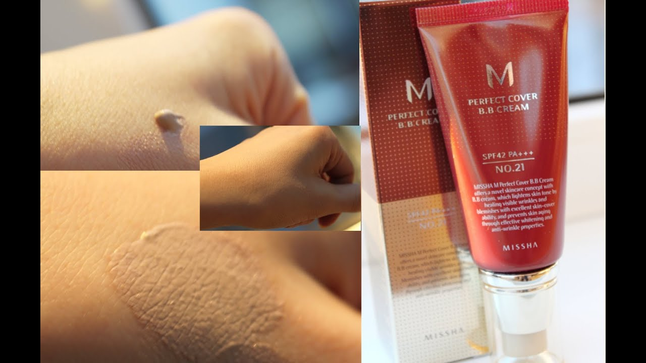 Отзыв на Missha M Perfect Cover BB Cream №21 - YouTube