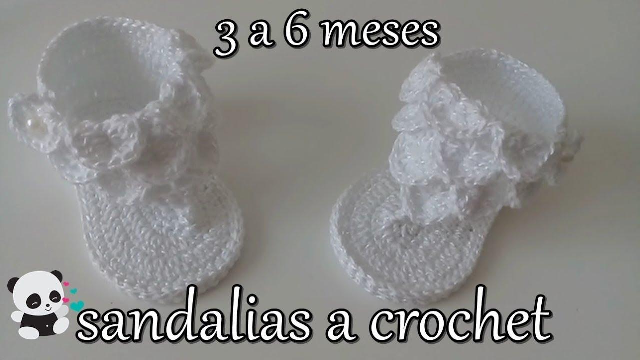 Punto Para Cocodrilo Youtube En A Bebé Sandalias Crochet H9WE2IeDY