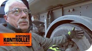 MANGELHAFTE Wartung - LKW hat Nagel im Reifen und nur 0,9mm Profil | Achtung Kontrolle | kabel eins