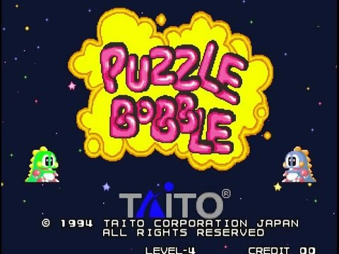 NEO GEO MVS Puzzle Bobble Arcade Machine in action