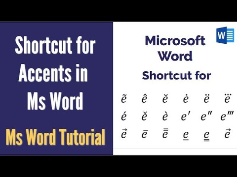 Shortcut for typing vector, arrow, hat, cap, bar, dot, double dot & other  accent over letter in Word