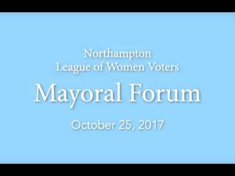 Northampton Mayoral Forum 10/25/17
