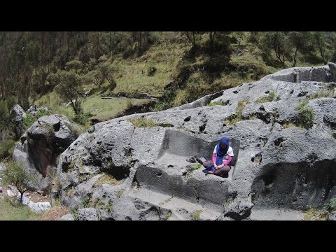 Exploring The Megalithic Temple Of Pyramid Near Cusco Peru