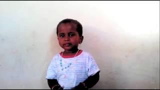 Baby Gunalini Singing  தமிழ் தாய் வாழ்த்து Tamil Thai Valthu