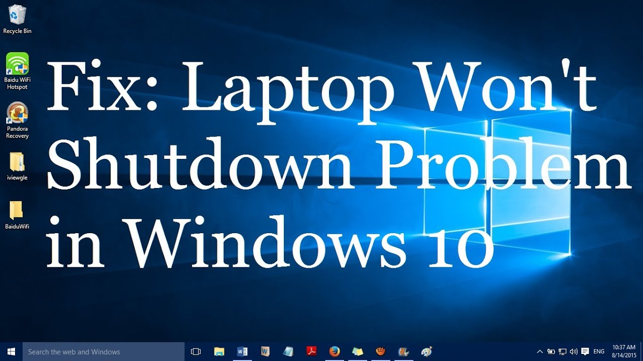 lenovo wont shut down windows 10