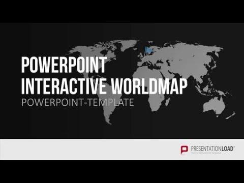 Interaktive Weltkarte Fur Powerpoint Youtube