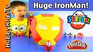 Giant Play-Doh IRONMAN Lego Head Makeover