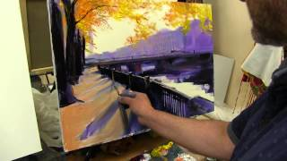 Игорь Сахаров, научиться рисовать город, городской пейзаж маслом