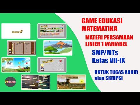 Game Edukasi Matematika Untuk Smp Mts Youtube