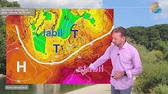 Aktuelle Wettervorhersage für 30. Juni 2020: Im Norden kühl und windig, im Süden Sonne und wärmer.