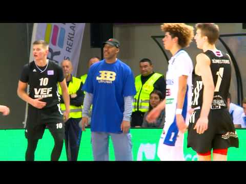 LaMelo and LiAngelo Ball highlights of second half against VEF Riga