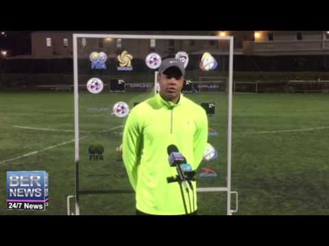 Bermuda Footballer Dante Leverock Before Canada Game, Jan 17 2017