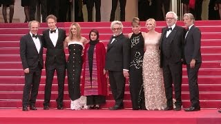 Jury members od the 69th annual Cannes Film Festival at the Closing Ceremony