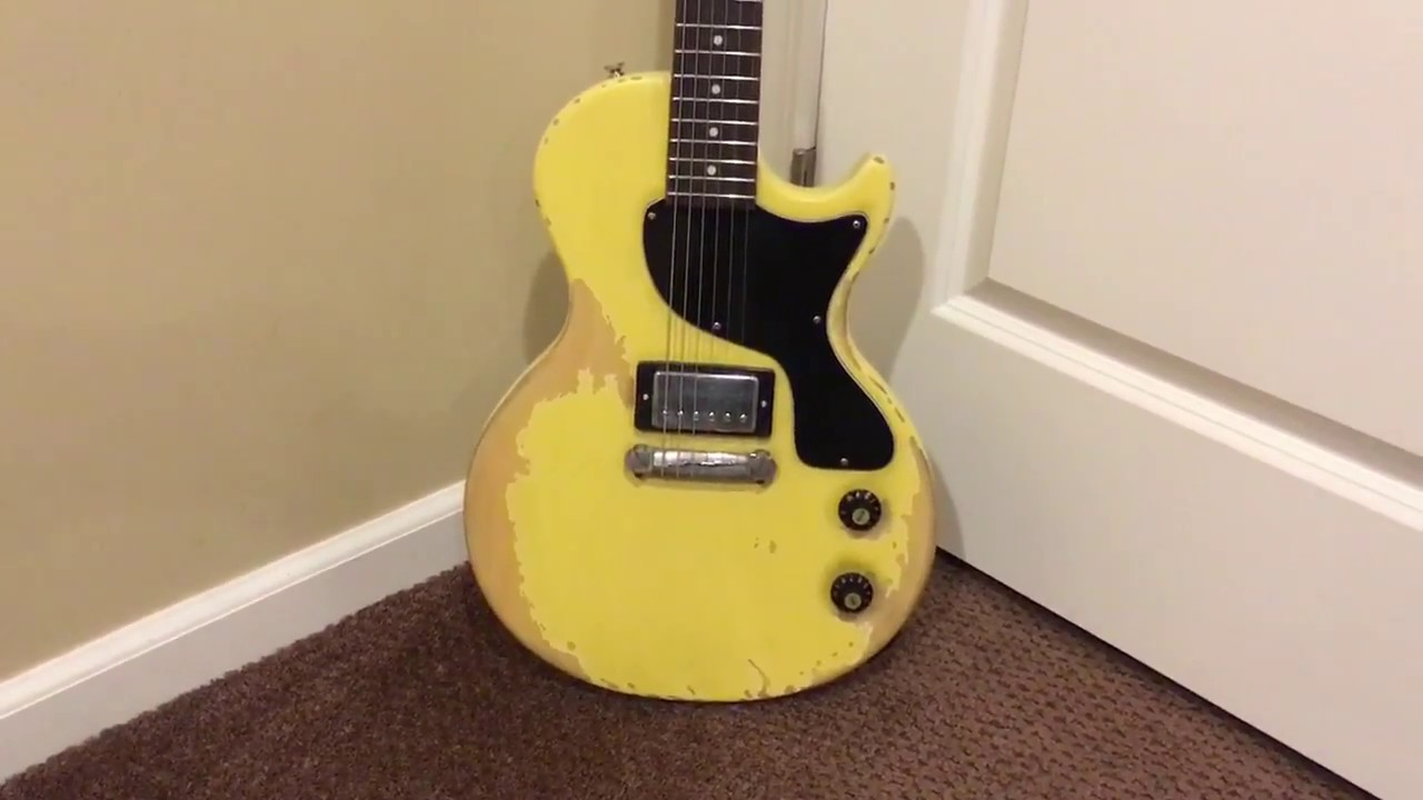 tv yellow les paul jr. guitar review - 2007 epiphone les paul jr junior relic humbucker tv yellow tv jr c