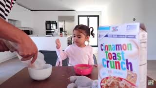 Austin and Elle Cereal mukbang *warning* too cute | The Ace Family