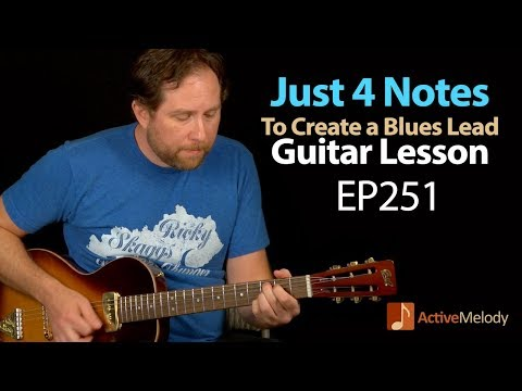 Learn an Easy Blues Lead On Guitar Using Only 4 Notes  Blues Lead Guitar Lesson  EP251