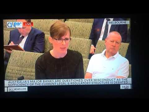 Donna McKenna at the Royal Commission into Banking