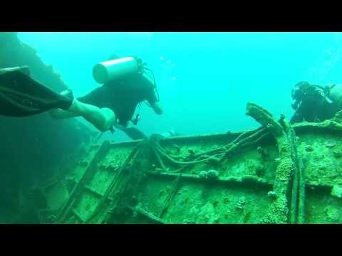 DIVING ACCIDENT ON 34 DEEP EGYPT SHIP WREEK