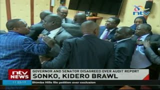 Kidero, Sonko engage in physical fight at Senate