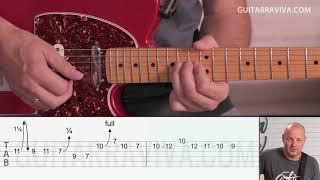 Hotel California SOLO 2 tutorial guitarra con Tablatura y tabs | Guitarraviva
