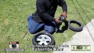 How To Change A Vespa Scooter Tire With Mechanic Bryan
