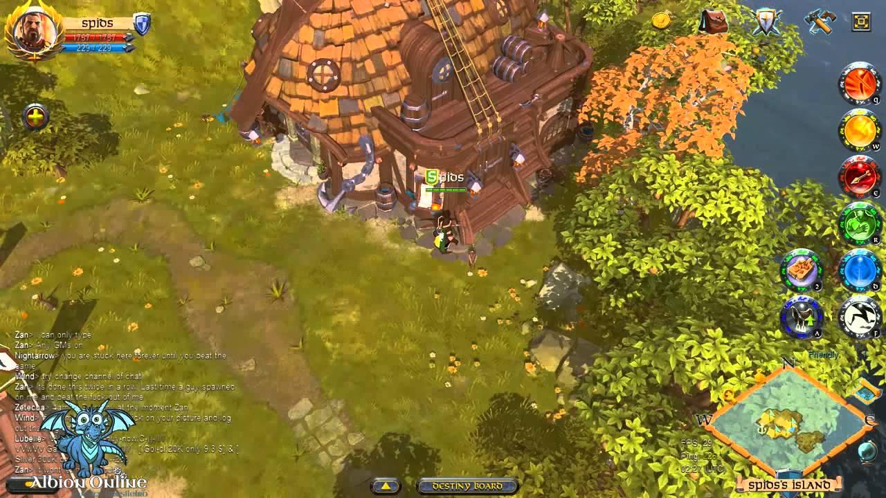 Albion Online: Gameplay (Construindo casa T5)