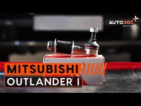 How to replace front anti roll bar link Mitsubishi Outlander 1 TUTORIAL | AUTODOC