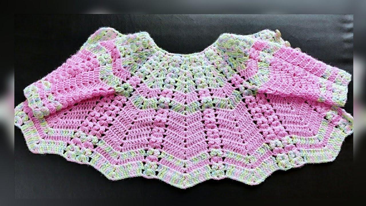 New Crochet Baby Frock/नए तरीके से बनाइए सुंदर बेबी फ्रॉक(part 1)