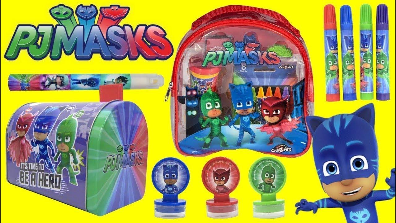 PJ MASKS  Craft Set with Superheroes CATBOY, OWLETTE & GEKKO #1
