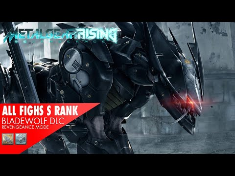 Metal Gear Rising - BladeWolf DLC: All Fights with S Rank (Revengeance)