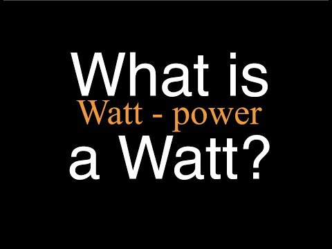 What is a Watt? An Explanation