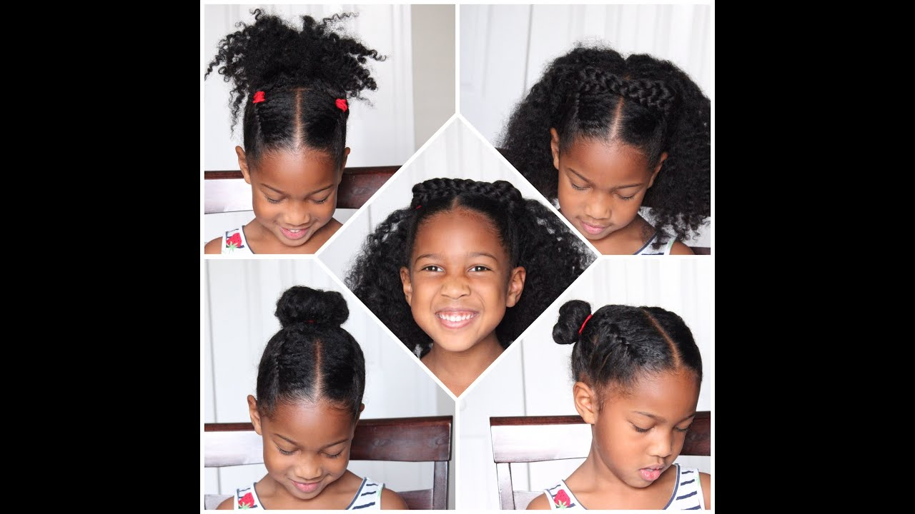 4 EASY Back to School Natural Hairstyles for KIDS - YouTube