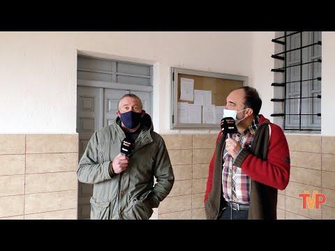 Con Roberto Llorente, alcalde de Espeja de San Marcelino