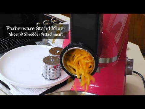 Farberware Stand Mixer Slicer & Shredder Attachment Review ~ Slice and Shred ~ What's Up Wednesday!
