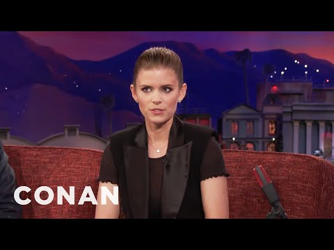 Kate Mara Is Very Cautious On Subway Platforms   CONAN on TBS