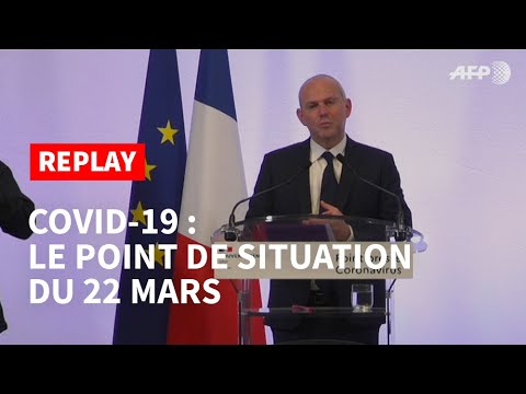 REPLAY - Covid-19: le point de situation du 22 mars